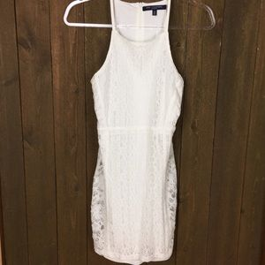 One Clothing White Lace lined dress
